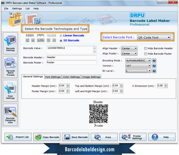 Barcode Label Design Software Professional To Generate