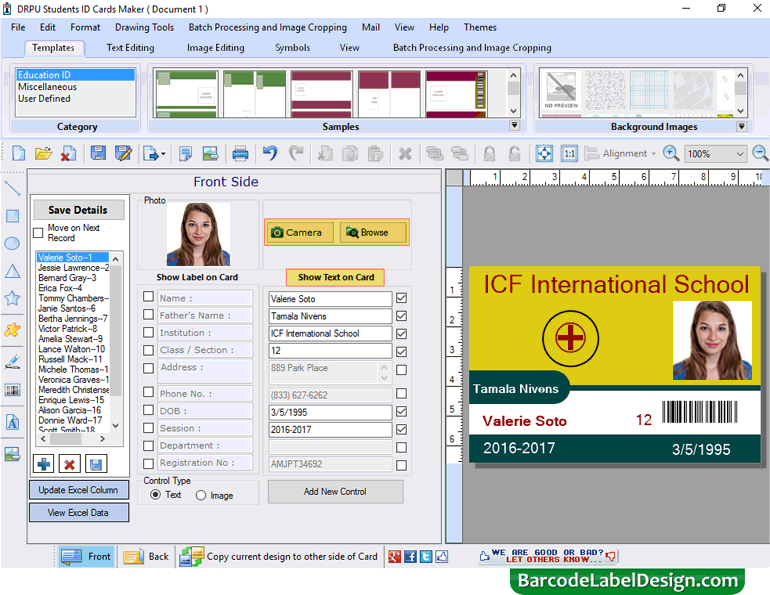 student id card maker software