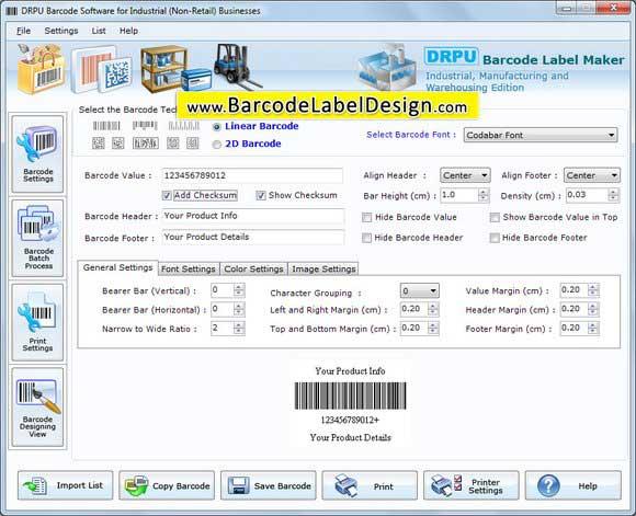 Industrial Barcode Generator screenshot